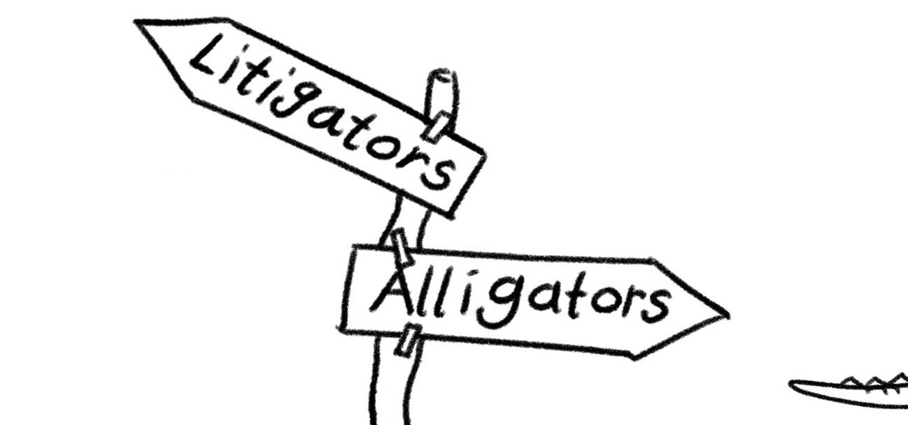 Litigator Alligator illustration